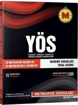 Metropol Yayınları YÖS Matematik Geometri Deneme Sınavları