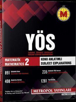 Metropol Yayınları YÖS Matematik 2  Örnek Çözümlü Konu Anlatımlı