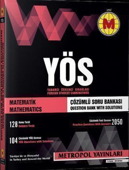 Metropol Yayınları YÖS Matematik Tüm Konular Çözümlü Soru Bankası