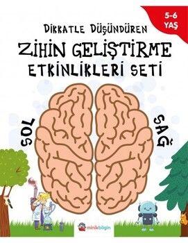 Minik Bilgin Yayınları Dikkatle Düşündüren Zihin Geliştirme Etkinlik Seti 5 6 yaş