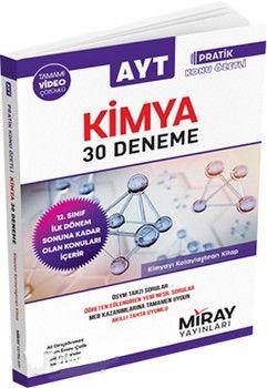 Miray Yayınları AYT Kimya Özel Pratik Konu Özetli 30 Deneme