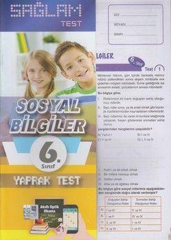 Molekül Yayınları 6. Sınıf Sosyal Bilgiler Sağlam Yaprak Test