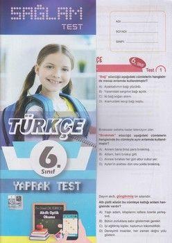 Molekül Yayınları 6. Sınıf Türkçe Sağlam Yaprak Test