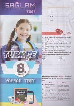 Molekül Yayınları 8. Sınıf Türkçe Sağlam Yaprak Test