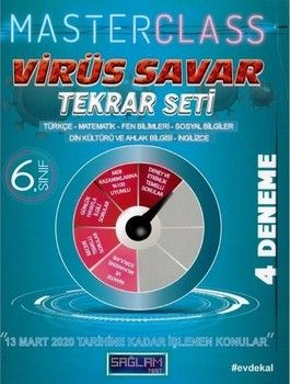 Molekül Yayınları 6. Sınıf Virüs Savar Masterclass Tekrar Seti