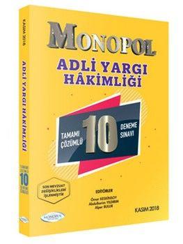 Monopol Yayınları Adli Yargı Hakimliği Tamamı Çözümlü 10 Deneme Sınavı