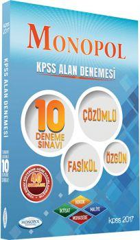 Monopol Yayınları 2017 KPSS A Grubu Çözümlü 10 Deneme Sınavı