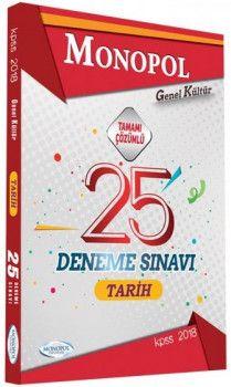 Monopol Yayınları 2018 KPSS Genel Kültür Tarih Tamamı Çözümlü 25 Deneme Sınavı