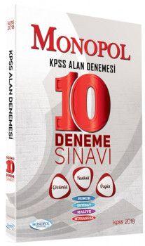 Monopol Yayınları KPSS A Grubu Çözümlü Özgün 10 Fasikül Deneme Sınavı