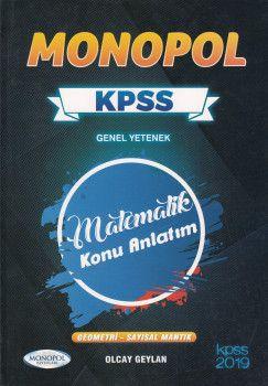 Monopol Yayınları KPSS Genel Yetenek Matematik Konu Anlatım
