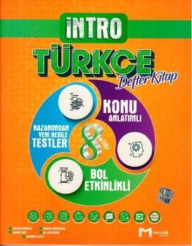 Mozaik Yayınları 8. Sınıf Türkçe İntro Defter Kitap