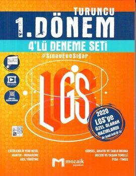 Mozaik Yayınları LGS 1. Dönem Turuncu 4 lü Deneme Seti