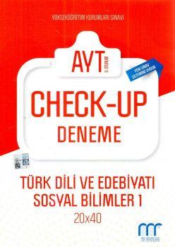 MR Yayınları YKS 2. Oturum AYT Türk Dili ve Edebiyatı Sosyal Bilimler 1 Check Up Deneme 20x40