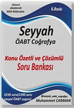 Muhammet Carman 2020 ÖABT Coğrafya Seyyah Konu Özetli ve Çözümlü Soru Bankası