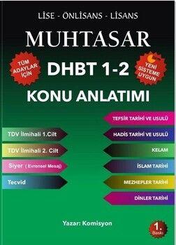 Muhtasar Yayınları 2020 DHBT 1 2 Tüm Adaylar Konu Anlatımlı Hazırlık Kitabı
