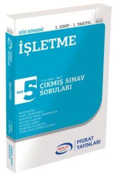 Murat Yayınları 1. Sınıf 1. Yarıyıl İşletme Son 5 Yılın Çıkmış Sınav Soruları 5113