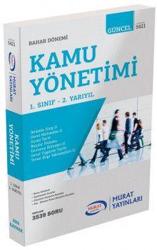 Murat Yayınları 1. Sınıf 2. Yarıyıl Kamu Yönetimi 5421
