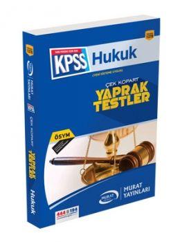 Murat Yayınları 1370 KPSS Hukuk Yaprak Test