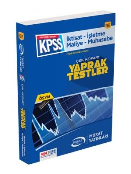Murat Yayınları 1371 KPSS Çek Kopart Yaprak Test İktisat İşletme Maliye Muhasebe