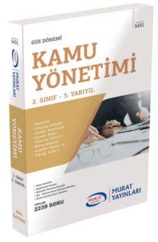 Murat Yayınları 2. Sınıf 3. Yarıyıl Kamu Yönetimi 5431