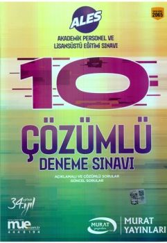 Murat Yayınları 2017 ALES Çözümlü 10 Deneme Sınavı 2065