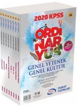 Murat Yayınları 2020 KPSS Genel Yetenek Genel Kültür Konu Anlatımlı Modüler Set