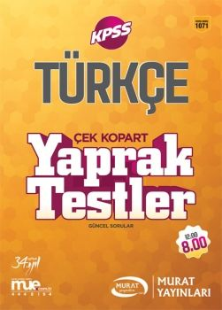 Murat Yayınları 2017 KPSS Türkçe Çek Kopart Yaprak Testler 1071
