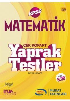Murat Yayınları 2017 KPSS Matematik Çek Kopart Yaprak Testler 1072