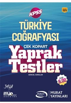 Murat Yayınları 2017 KPSS Türkiye Coğrafyası Çek Kopart Yaprak Testler 1074