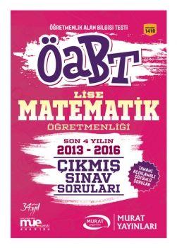 Murat Yayınları 2017 ÖABT Lise Matematik Öğretmenliği Çıkmış Sınav Soruları 1410