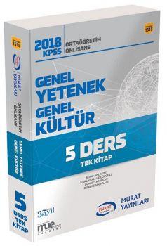 Murat Yayınları 2018 KPSS Ortaöğretim Lise Önlisans Genel Yetenek Genel Kültür Tek Kitap 1515
