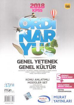 Murat Yayınları 2018 KPSS Genel Yetenek Genel Kültür Konu Anlatımlı Modüler Set 1000