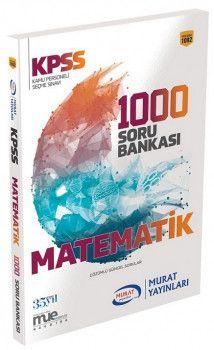 Murat Yayınları 2018 KPSS Matematik Çözümlü Güncel 1000 Soru Bankası 1092