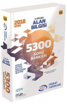 Murat Yayınları 2018 KPSS A Grubu Alan Bilgisi 5300 Soru Bankası 1350