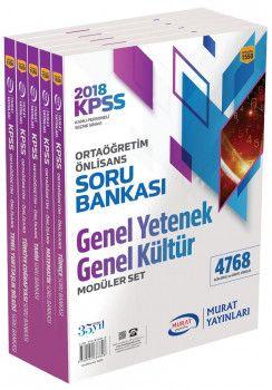 Murat Yayınları 2018 KPSS Ortaöğretim Önlisans Genel Yetenek Genel Kültür Soru Bankası Modüler Set 1550