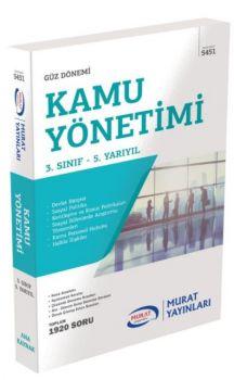Murat Yayınları 3. Sınıf 5. Yarıyıl Kamu Yönetimi 5451
