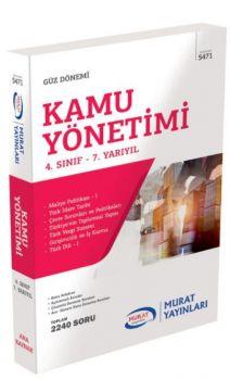 Murat Yayınları 4. Sınıf 7. Yarıyıl Kamu Yönetimi 5471