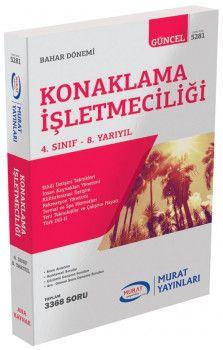 Murat Yayınları 4. Sınıf 8. Yarıyıl Konaklama İşletmeciliği 5281