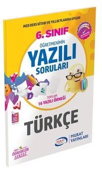 Murat Yayınları 6. Sınıf Türkçe Öğretmenimin Yazılı Soruları 3430