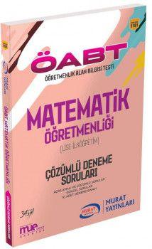 Murat Yayınları ÖABT Lise Ortaöğretim Matematik Öğretmenliği Çözümlü Deneme Soruları 1181