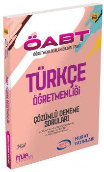 Murat Yayınları ÖABT Türkçe Öğretmenliği Çözümlü Deneme Soruları 1182
