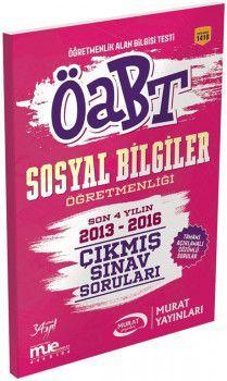 Murat Yayınları ÖABT Sosyal Bilgiler Öğretmenliği Çıkmış Sınav Soruları