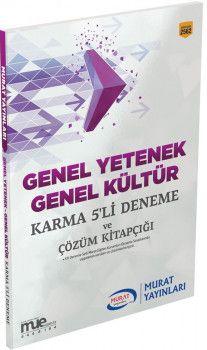 Murat Yayınları Genel Yetenek Genel Kültür Karma 5 li Deneme ve Çözüm Kitapçığı