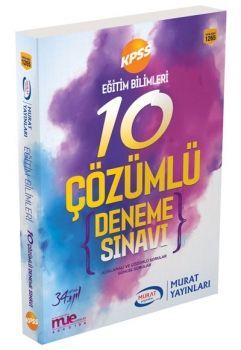 Murat Yayınları KPSS Eğitim Bilimleri Çözümlü 10 Deneme Sınavı