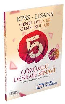 Murat Yayınları KPSS GK GY Lisans 5 Çözümlü Deneme Sınavı 1066