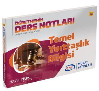 Murat Yayınları KPSS Temel Yurttaşlık Bilgisi Öğretmenin Ders Notları 1045