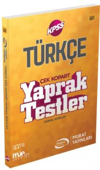 Murat Yayınları KPSS Türkçe Çek Kopart Yaprak Test 1071