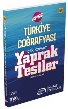 Murat Yayınları KPSS Türkiye Coğrafyası Çek Kopart Yaprak Test 1074