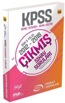 Murat Yayınları KPSS Genel Yetenek Genel Kültür Son 5 Yılın Çıkmış Sınav Soruları 1060