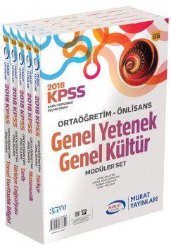 Murat Yayınları KPSS Genel Yetenek Genel Kültür Orta Öğretim Ön Lisans Modüler Set 1510